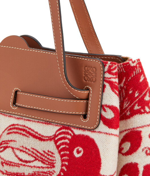 LOEWE Lazo Shopper Tiles Red front