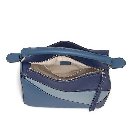 LOEWE Puzzle Bag Varsity Blue Multitone all