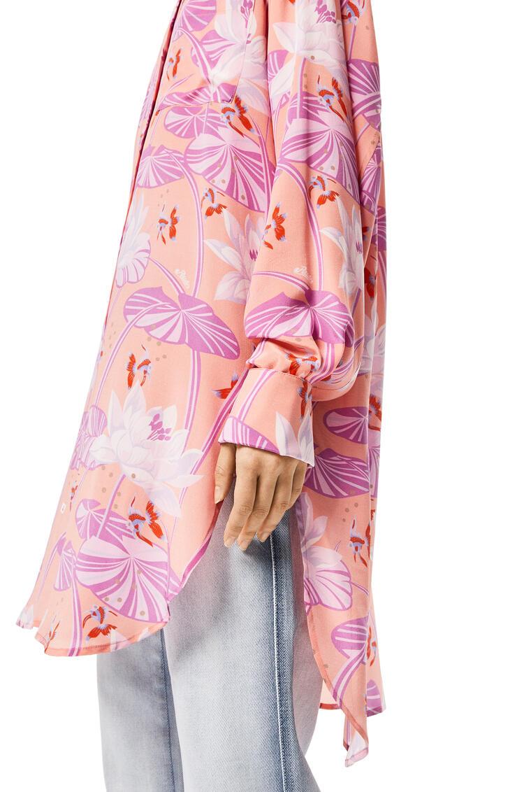 LOEWE Oversize shirt in waterlily silk Salmon pdp_rd