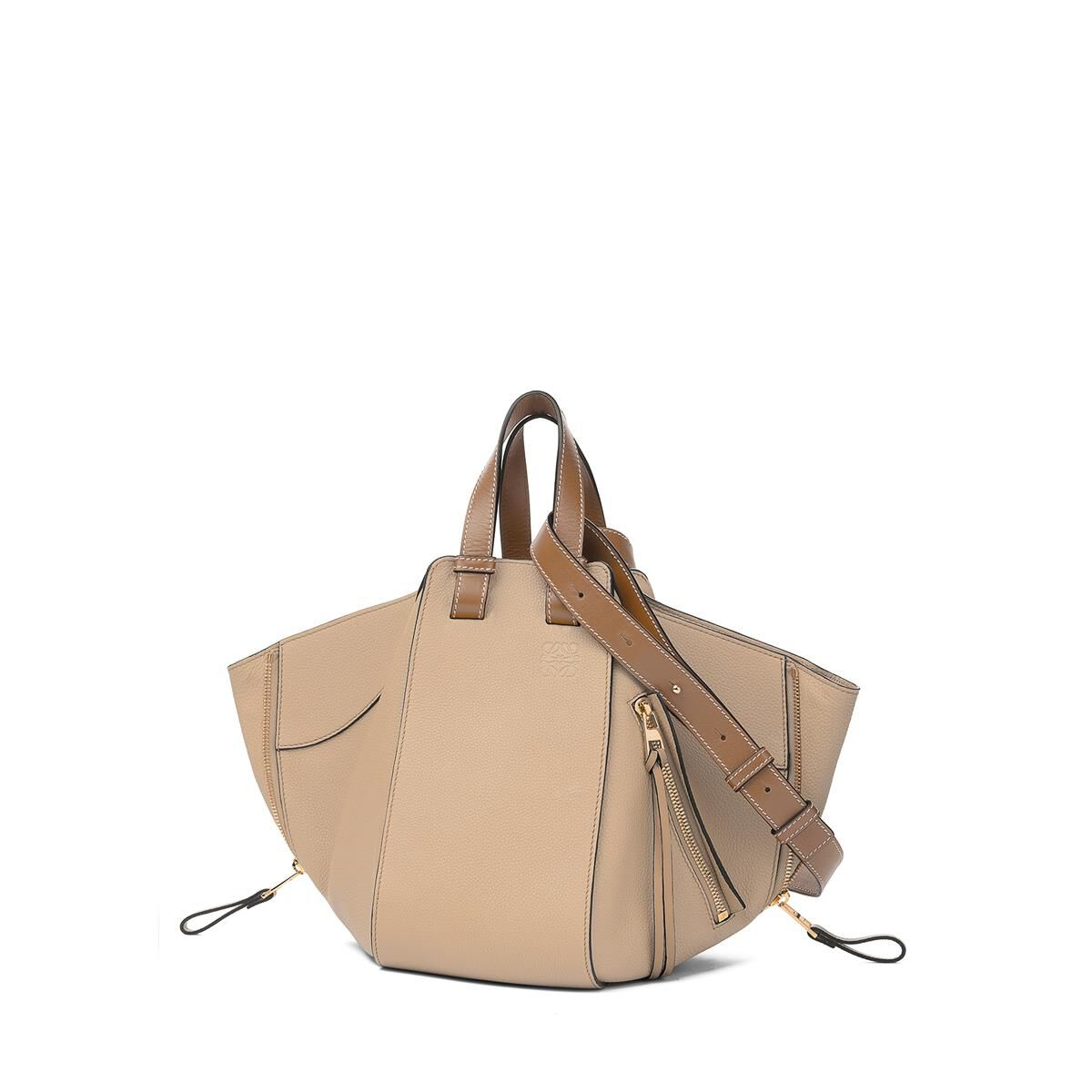 LOEWE Hammock Small Bag Sand/Mink Color all
