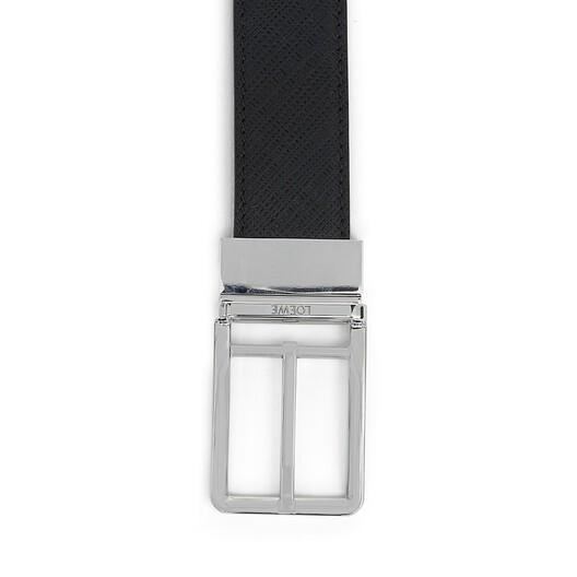 LOEWE Formal Belt 3.2Cm Adj/Rev Black/Palladium front