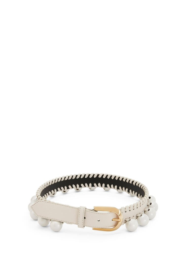LOEWE Knot belt in calfskin White/Gold pdp_rd
