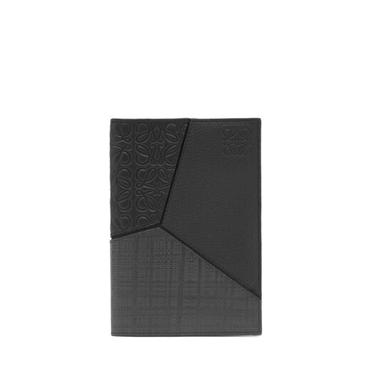 LOEWE Puzzle Passport Cover 黑色 front