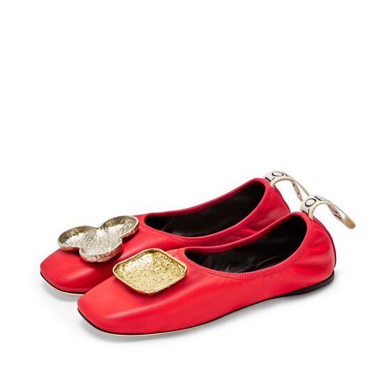 LOEWE Shamrock Ballerina 红色 all