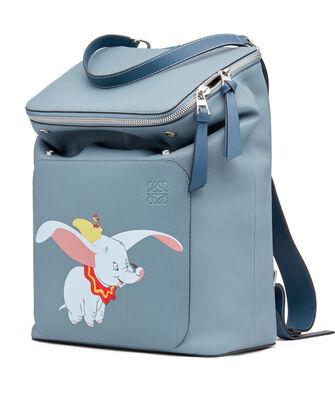 LOEWE Goya Dumbo Backpack 灰蓝色 front