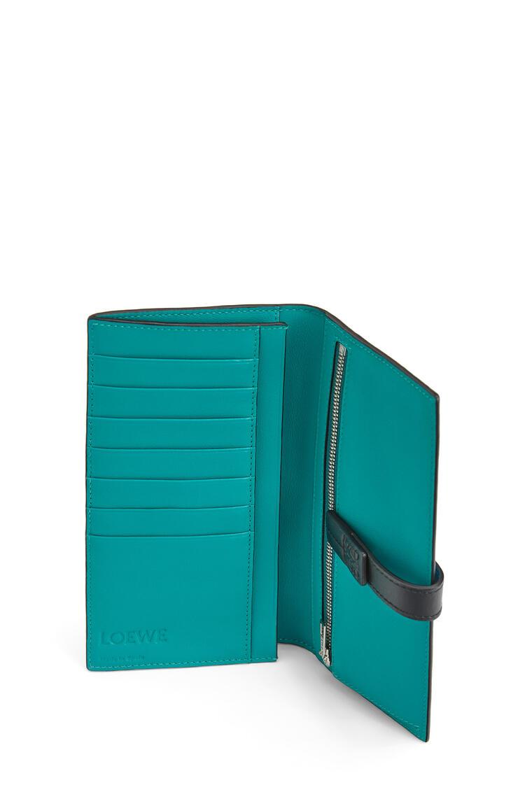 LOEWE Large Vertical Wallet In Soft Grained Calfskin Dark Lagoon pdp_rd