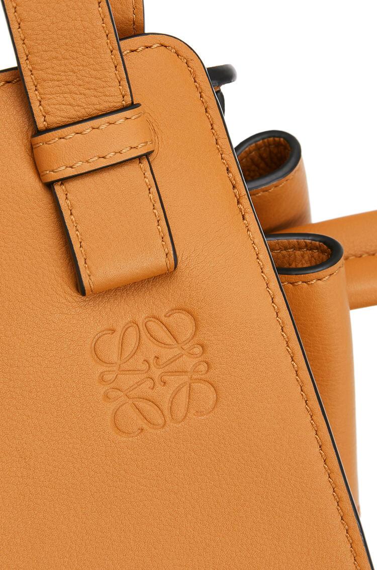 LOEWE Small Hammock Drawstring Bag In Nubuck And Calfskin Honey pdp_rd