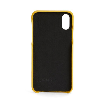 LOEWE Cover For Iphone X Yellow front