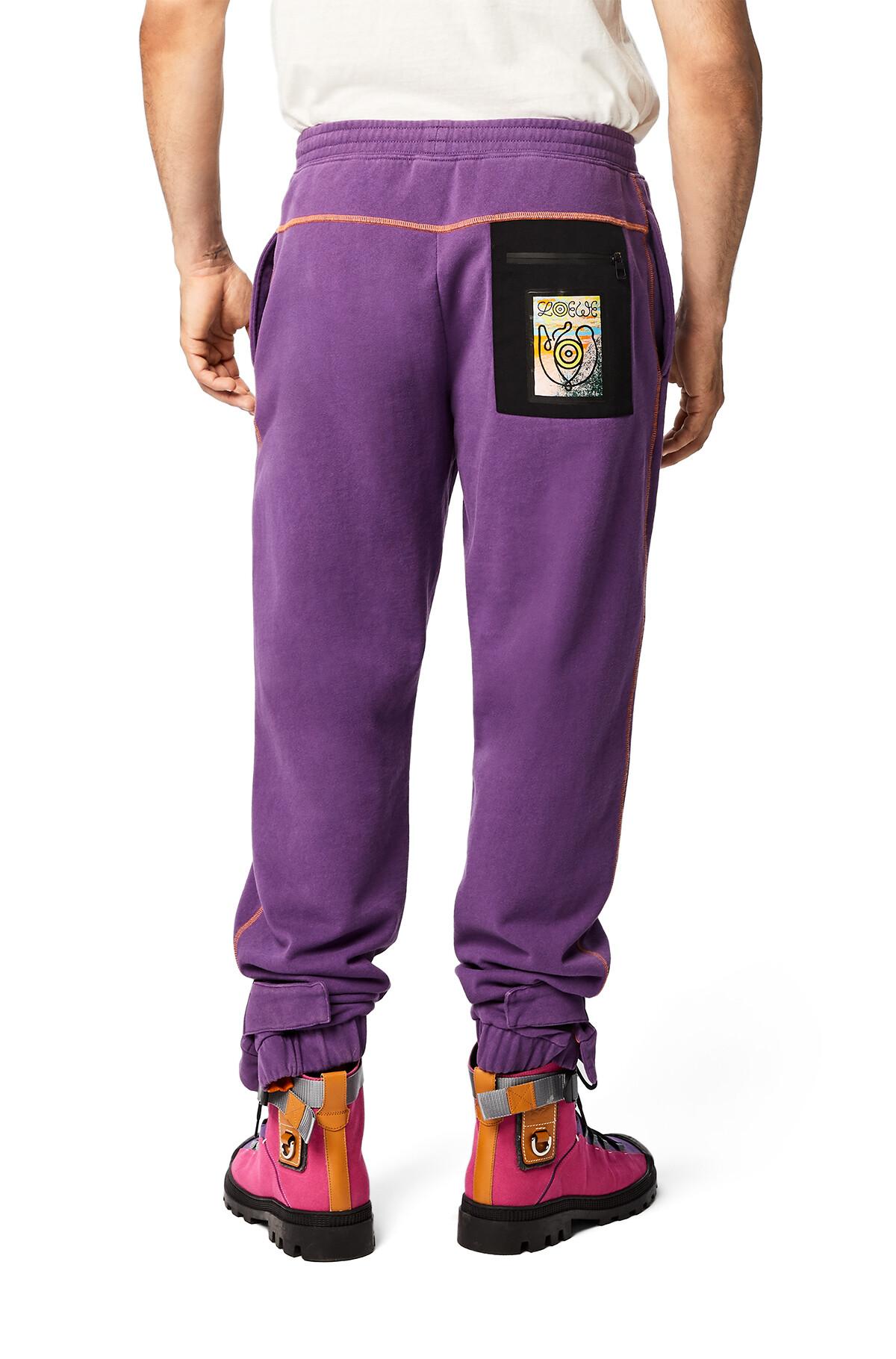 LOEWE Eln Fleece Trousers Lavender front