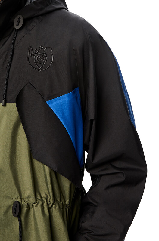 LOEWE Eln Parka Black/Khaki Green front