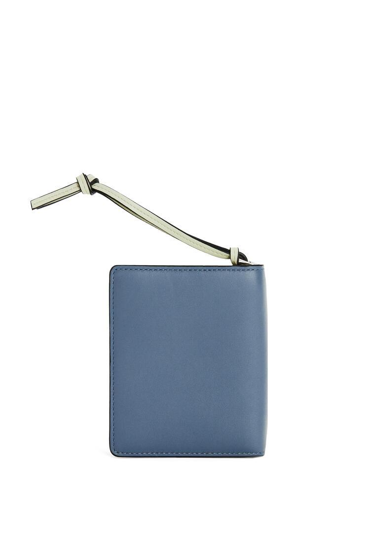 LOEWE Compact zip wallet in classic calfskin Storm Blue/Marble Grey pdp_rd