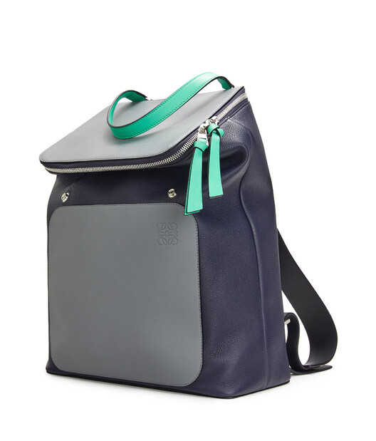 LOEWE Goya Backpack Deep Blue/Green front