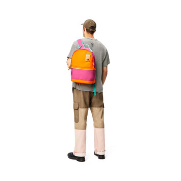 LOEWE Eye/Loewe/Nature Backpack Small Violet/Orange front