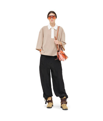 LOEWE Poloneck Top 米色 front