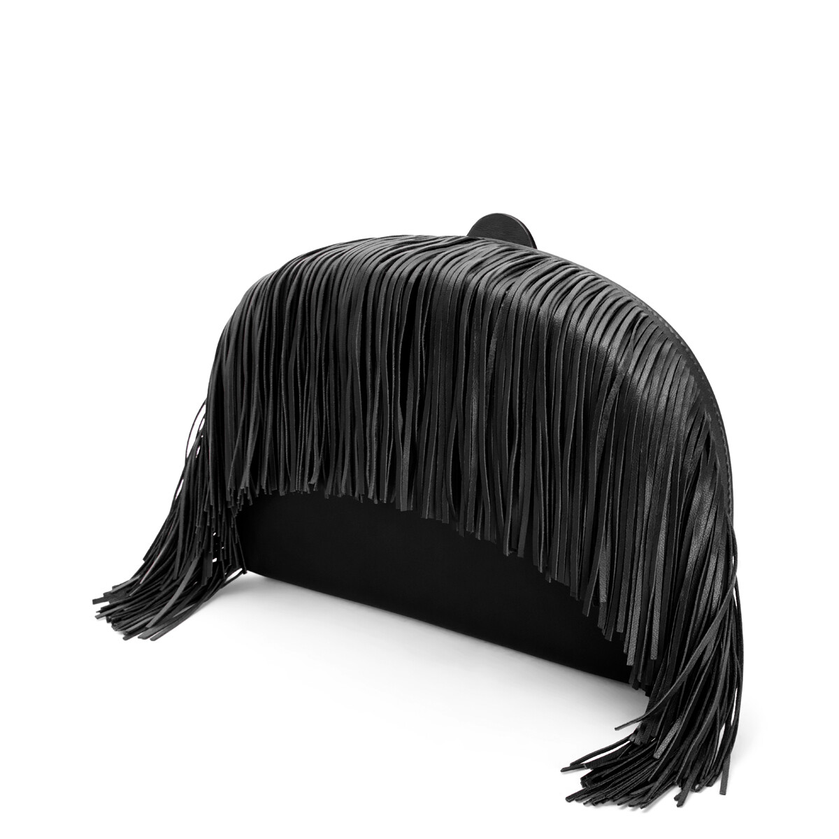 LOEWE Heel Clutch Fringes Black front