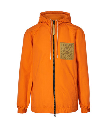LOEWE Paula Zip Hood Jacket Bright Orange front