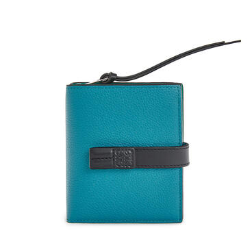 LOEWE Compact zip wallet in soft grained calfskin Dark Lagoon pdp_rd