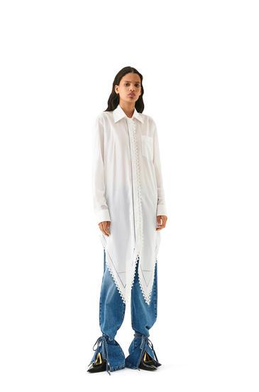 LOEWE Tie Cut Panel Trousers In Denim Washed Denim pdp_rd