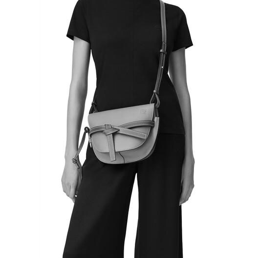 LOEWE Gate Small Bag Black/Pecan front