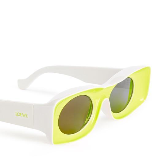 LOEWE Paula's Ibiza Original Sunglasses In Acetate Neon Yellow front