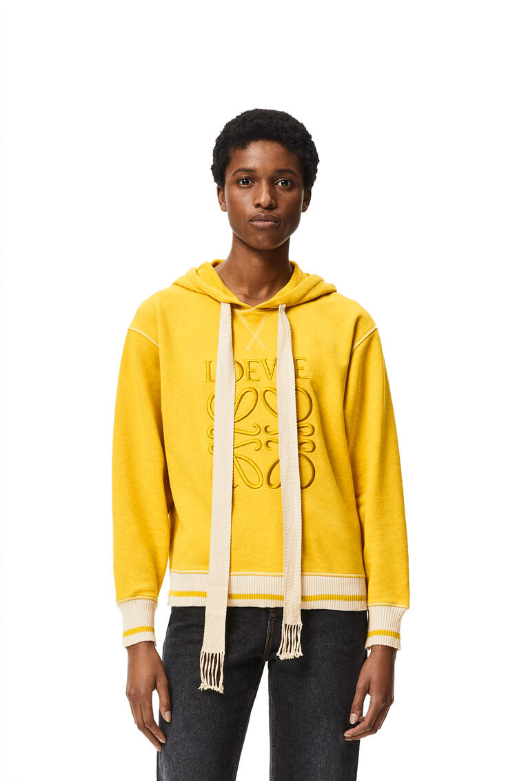 LOEWE LOEWE anagram embroidered hoodie in cotton Yellow pdp_rd