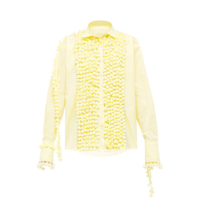 LOEWE Shirt Pompoms Yellow front