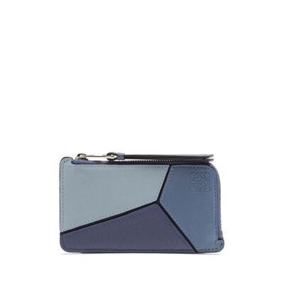 LOEWE Puzzle Coin/Card Holder Varsity Blue Multitone front