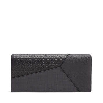 LOEWE Puzzle Long Horizontal Wallet 黑色 front