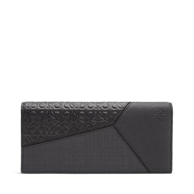LOEWE Puzzle Long Horiz Wallet Black front
