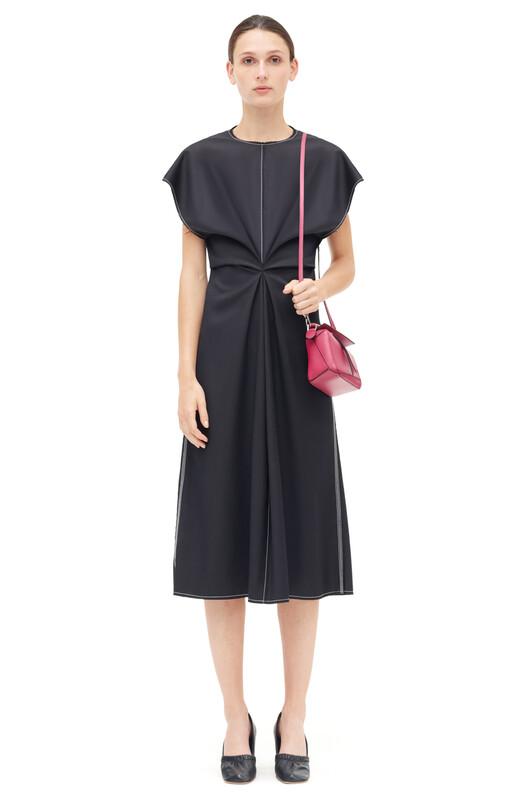 LOEWE Draped Dress 黑色 front