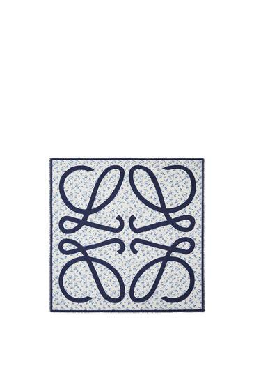 LOEWE Bufanda De 140 X 140 Cm En Cashmere Y Modal Azul pdp_rd