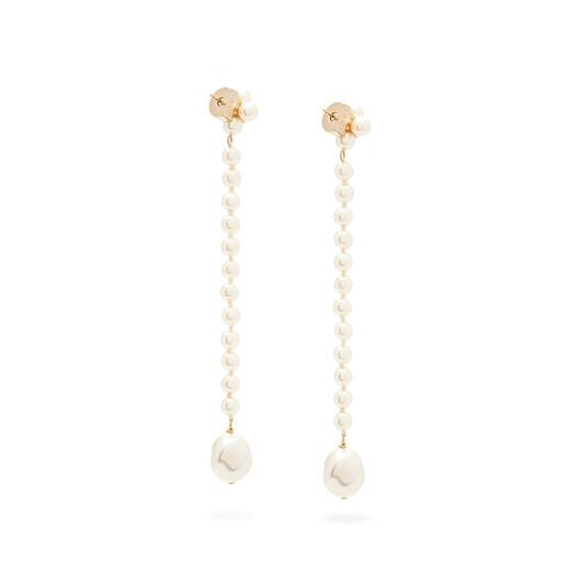 LOEWE Pearls Earrings White front
