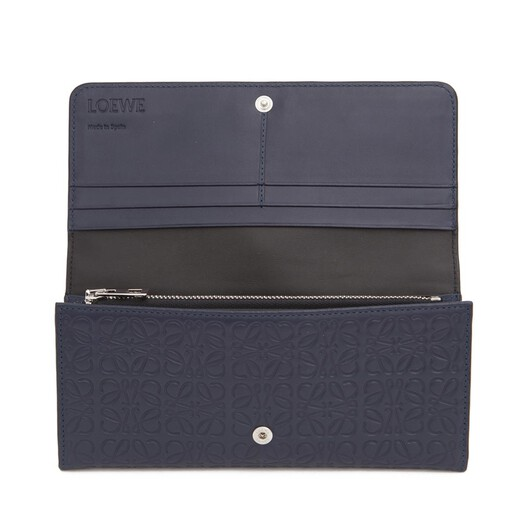 LOEWE Repeat Continental Wallet Navy Blue front