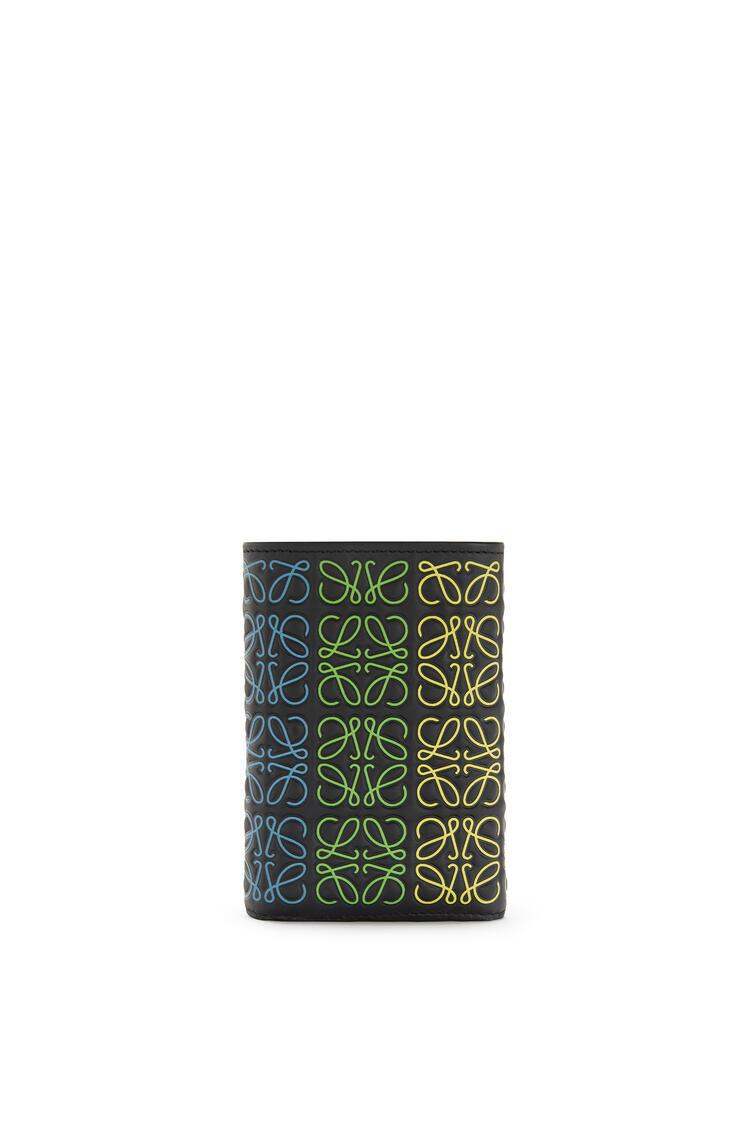 LOEWE Small vertical wallet in calfskin Black/Multicolor pdp_rd