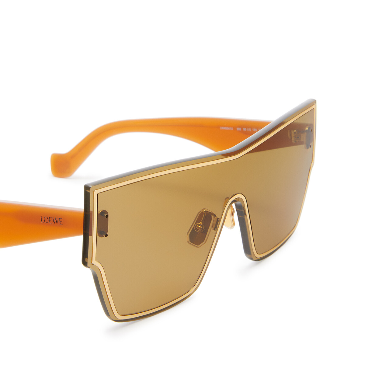 LOEWE Large Mask Sunglasses Hazelnut front