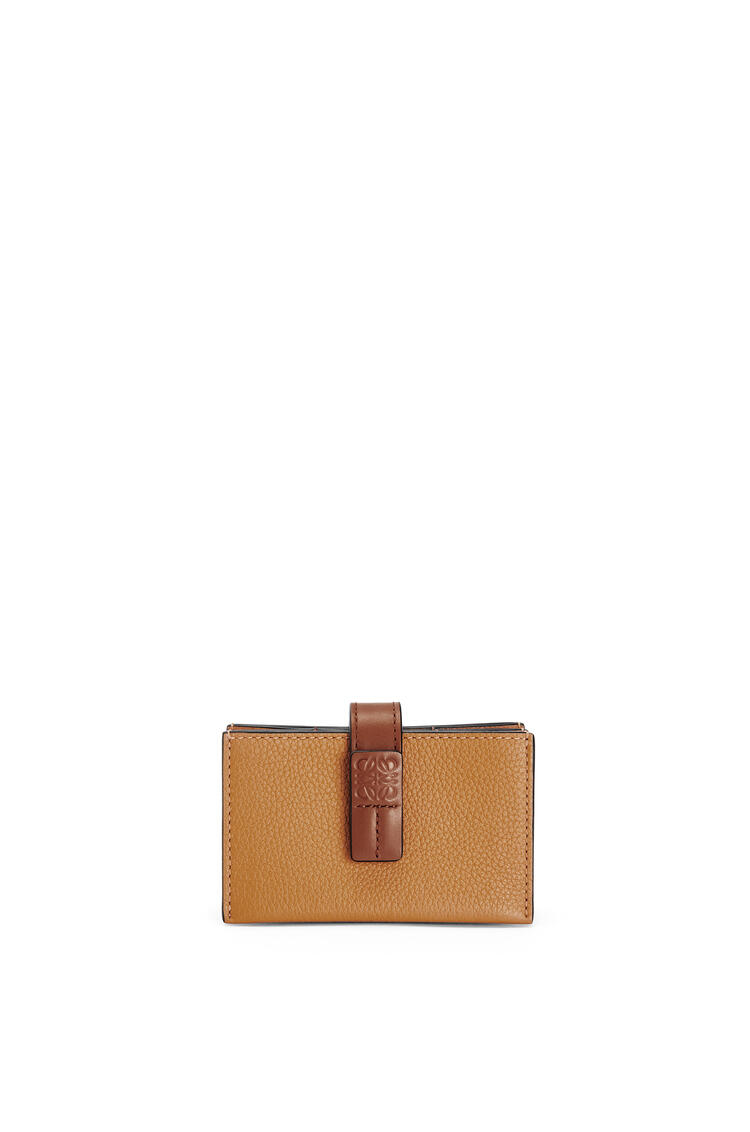 LOEWE Accordion cardholder in soft grained calfskin Light Caramel/Pecan pdp_rd