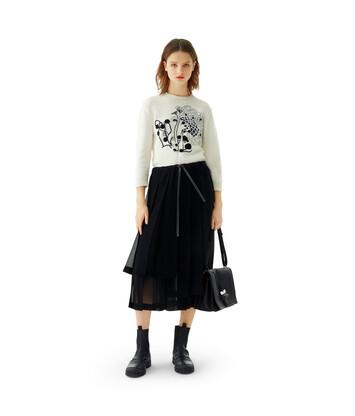 LOEWE Pleated Skirt Negro front