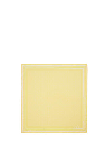 LOEWE Anagram scarf in silk White/Yellow pdp_rd