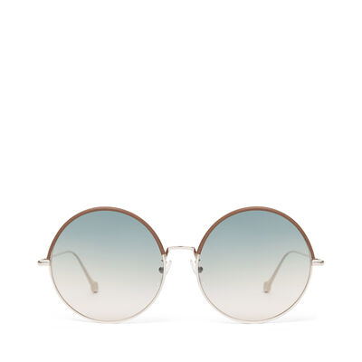 LOEWE Round Sunglasses Brown/Gradient Sand front