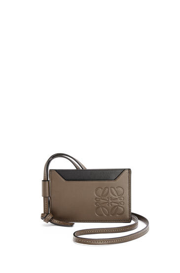 LOEWE 牛皮革对比色卡包 Khaki Brown pdp_rd