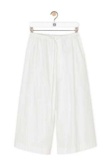 LOEWE Large Pilgrim Shorts Blanco front