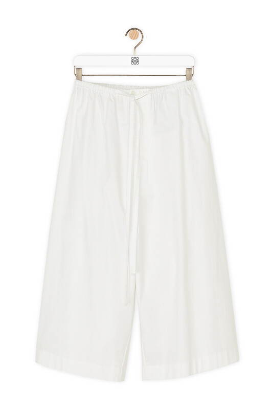 LOEWE Drawstring Shorts 白色 front
