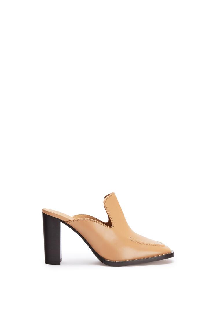 LOEWE Heel mule 75 in calf Desert pdp_rd