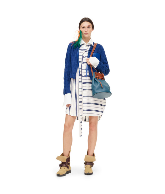 LOEWE Short Jacket Dark Royal Blue front