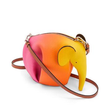 LOEWE Elephant Spray Mini Bag Orange Sunset front