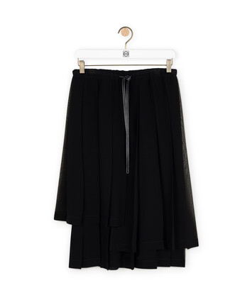 LOEWE Pleated Skirt Black front