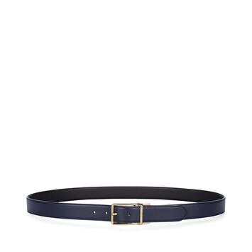 LOEWE フォーマル ベルト 3.2CM ADJ/REV navy blue/black/gold front