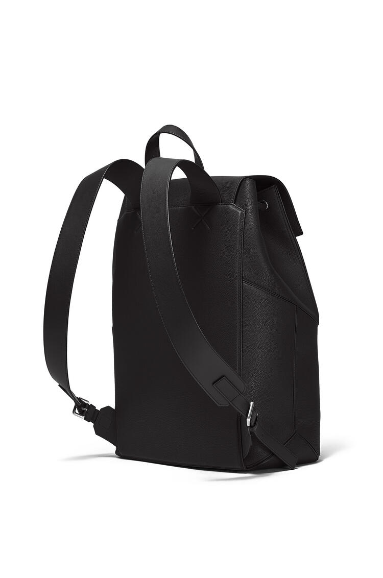 LOEWE Puzzle Backpack in soft grained calfskin Black pdp_rd