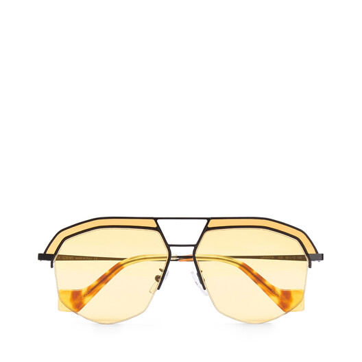 LOEWE Geometrical Sunglasses Matte Black/Yellow front