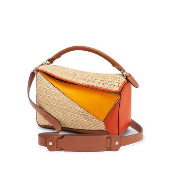 LOEWE Paula's Puzzle Bag Orange/Natural front